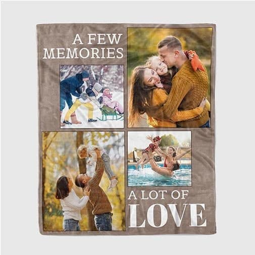 14th anniversary gift: A Few Memories A Lot Of Love Custom Photo Family Blanket
