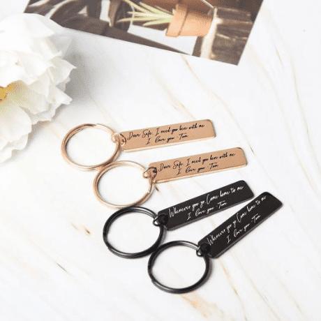 Custom Keychain - 19th anniversary gifts