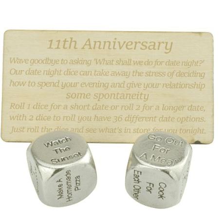 Eleventh Anniversary Date Night Decider Dice