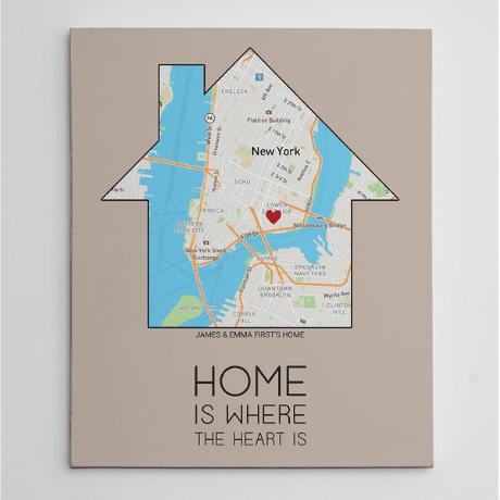 Heart Map Print