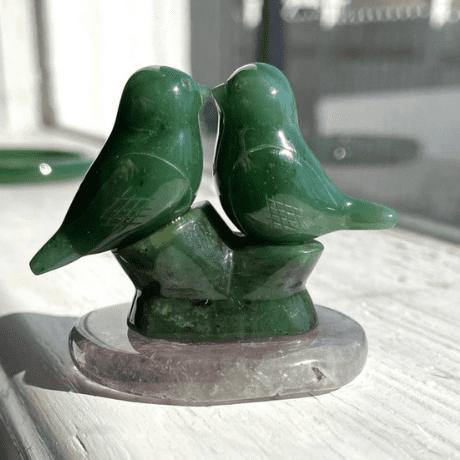 Jade on Quartz Base - 35th anniversary gifts