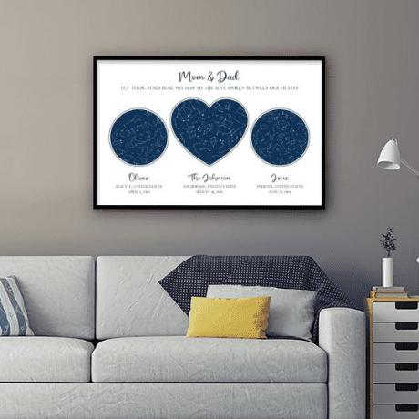 Custom Star Map Framed Print