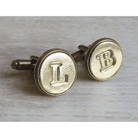 Personalized Bronze and Copper Initial Cufflinks
