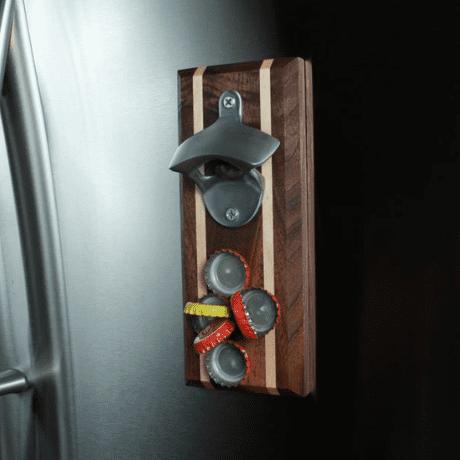 Personalized Bottle Opener Magnetic Cap Catcher