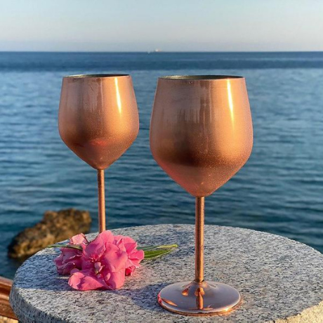 Personalized Copper Wine Glass