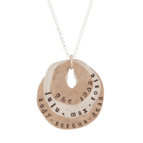 Personalized Family Circles Necklace