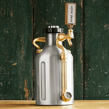 Pressurized Craft Beer Growler - 16th anniversary gifts