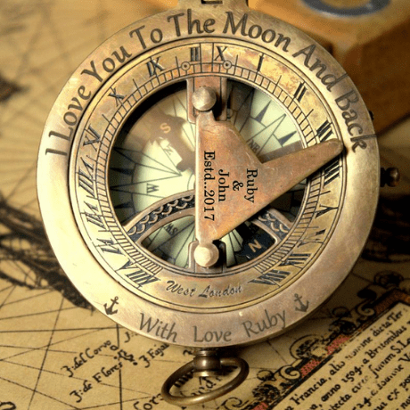 Sundial Compass - 19th anniversary gifts