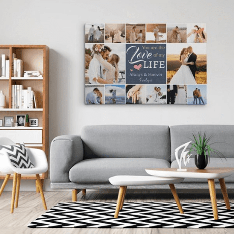 """""""You Are the Love of My Life"""" Photo Collage Canvas Print"""