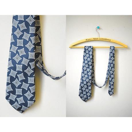 Diamond Pattern Necktie - 60th anniversary gift