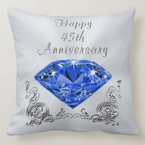 gifts for 45th anniversary: 45th Anniversary Throw Pillow