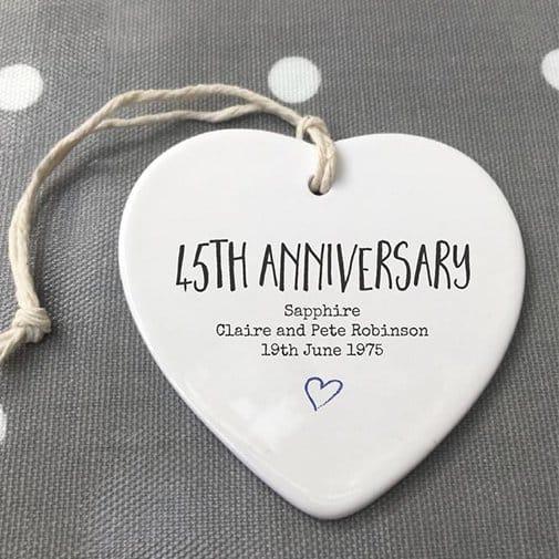 45th Anniversary ceramic Keepsake