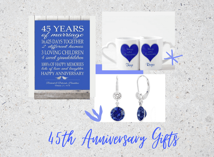 30+ Stunning 45th Anniversary Gifts for Couples