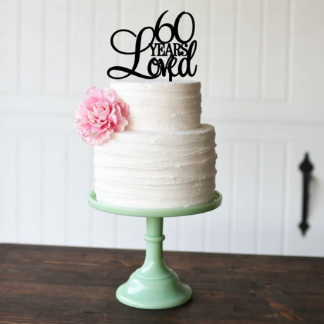 Loved Cake Topper