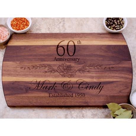 Custom Cutting Board - 60th anniversary