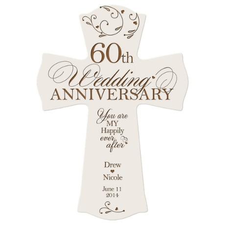Personalized Cross - 60th anniversary gift