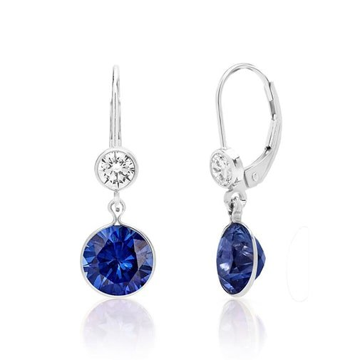 Blue Sapphire Teardrop Pendant with Diamond