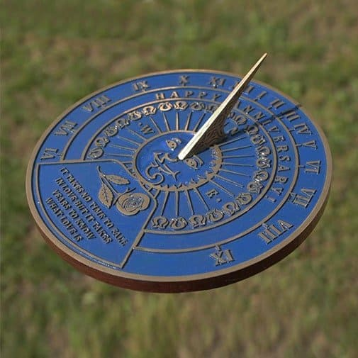 Garden Sundial with your Message