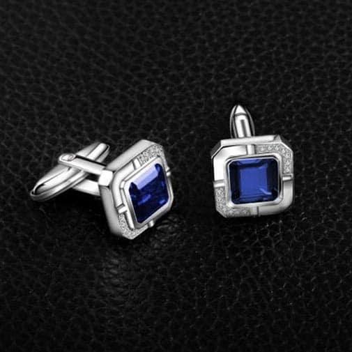 sapphire anniversary:  Sapphire Cufflink