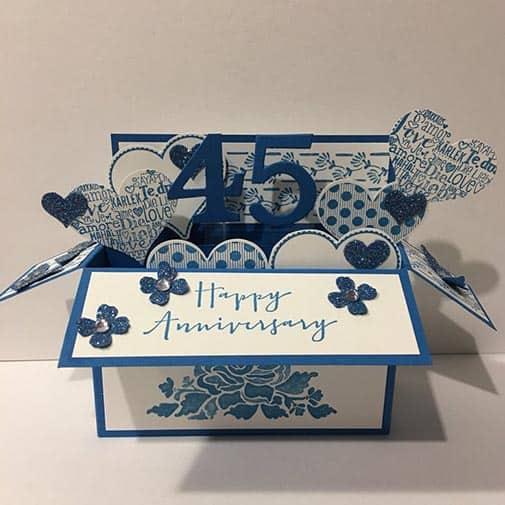 45th anniversary gift: Sapphire Wedding Anniversary Card