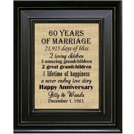 Framed Print - 60th anniversary gift
