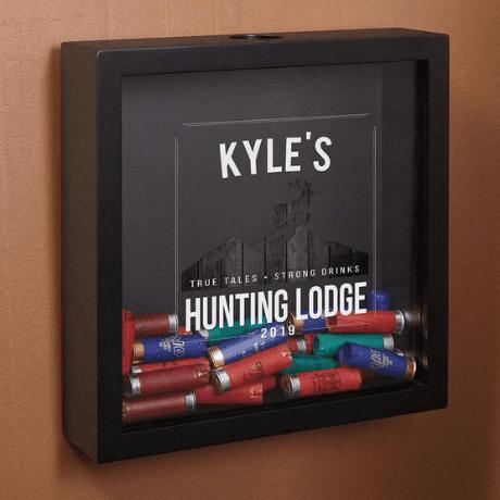 Hunting Lodge Personalized Shotgun Shell Shadow Box