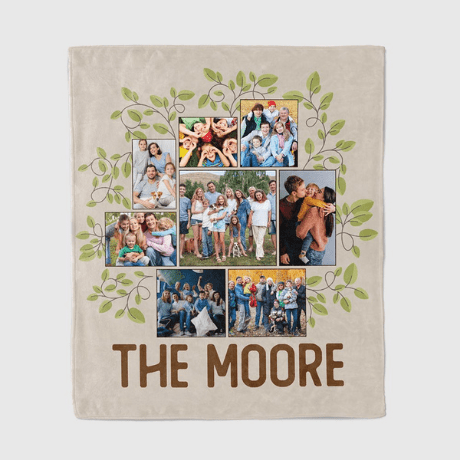Personalized Throw Blanket - 60th anniversary gift