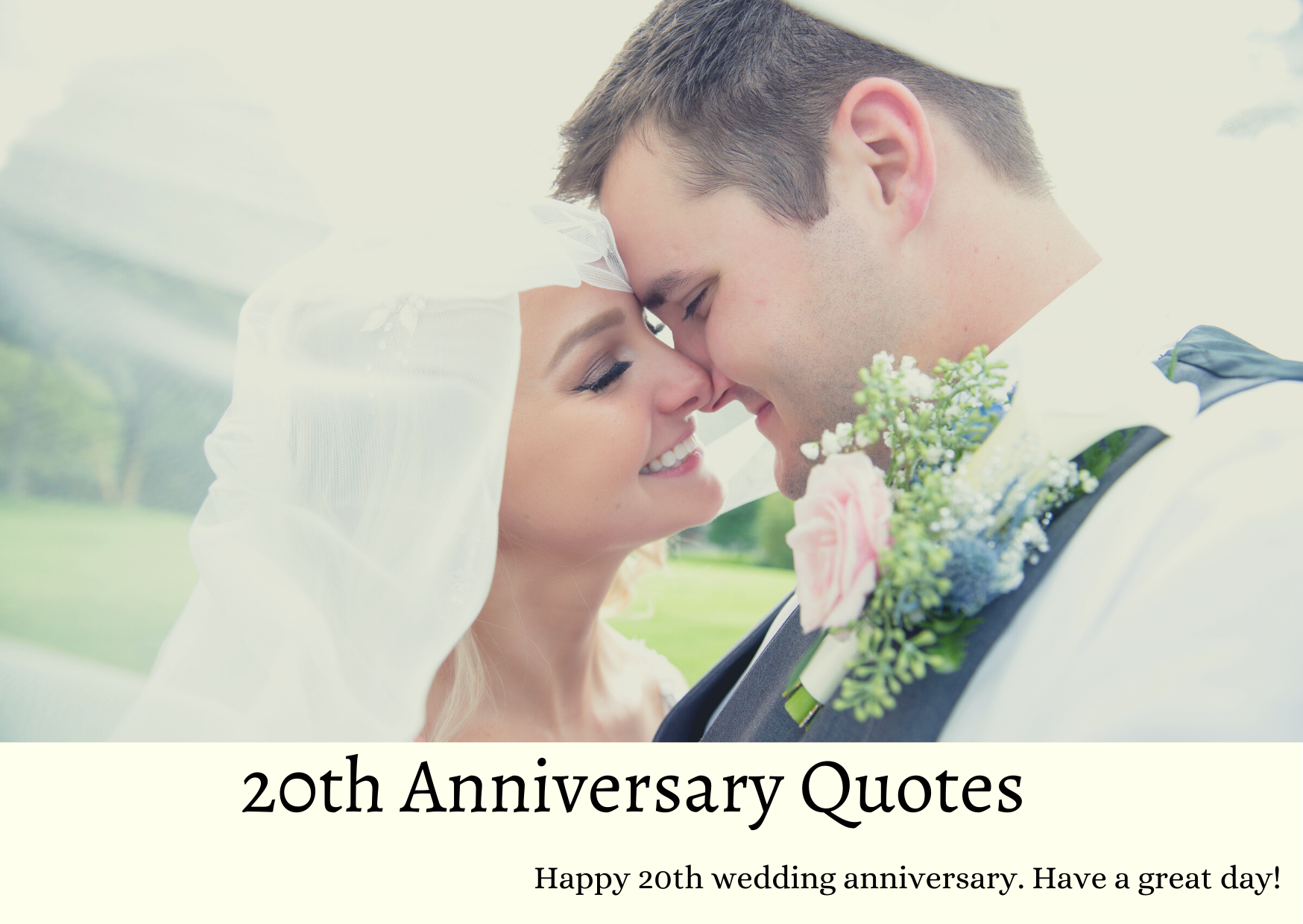 Happy 20 Year Anniversary Quotes and Wishes for Husband, Wife, and Parents