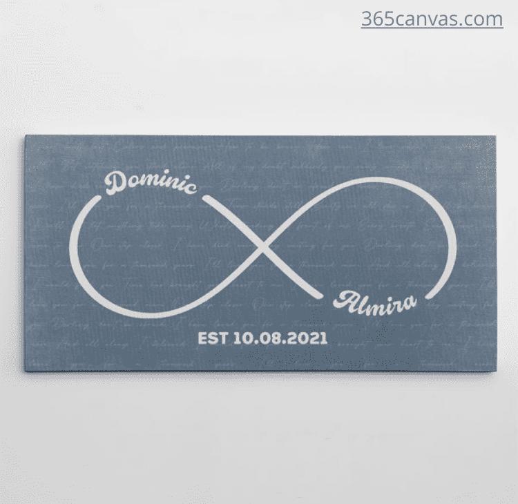 Infinity Symbol Canvas Print With Song Lyrics