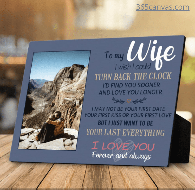 To My Wife Gift for Wife Custom Photo Plaque