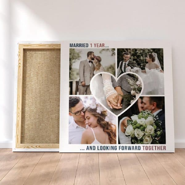 Looking Forward To Forever Anniversary Custom Photo Canvas Print