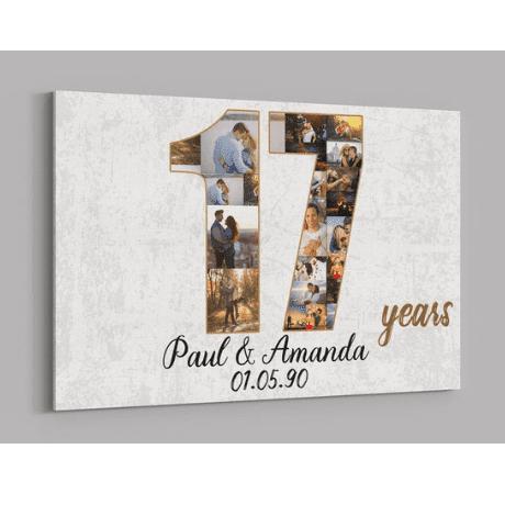 17 Years Canvas - 17 year anniversary gift
