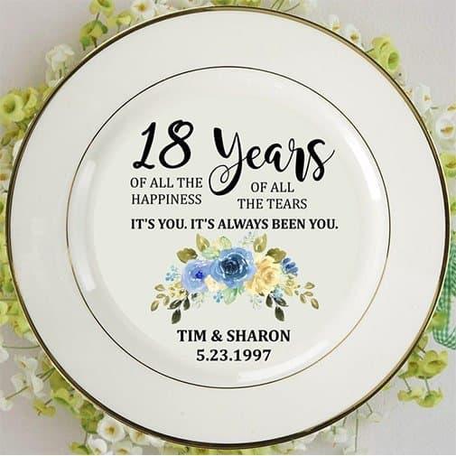 18 Porcelain Blue Plate