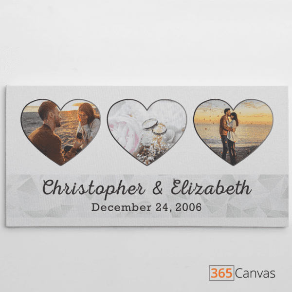 3 Heart Shaped Photo Collage