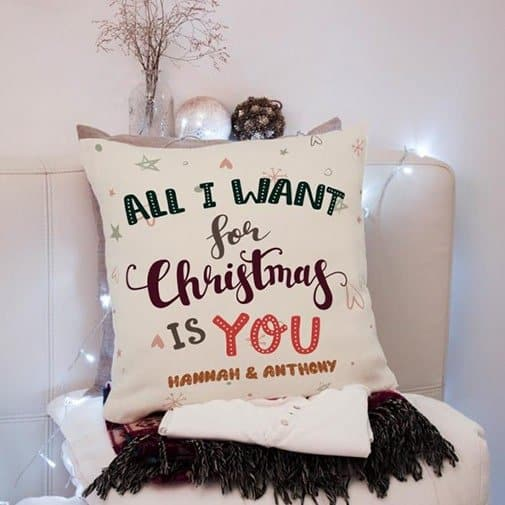 All I Want For Christmas Is You Custom Suede Pillow