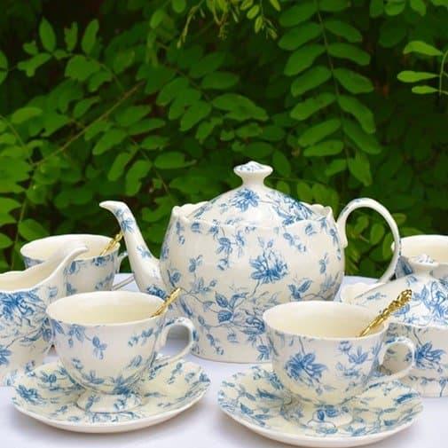Blue Toile Porcelain Teapot