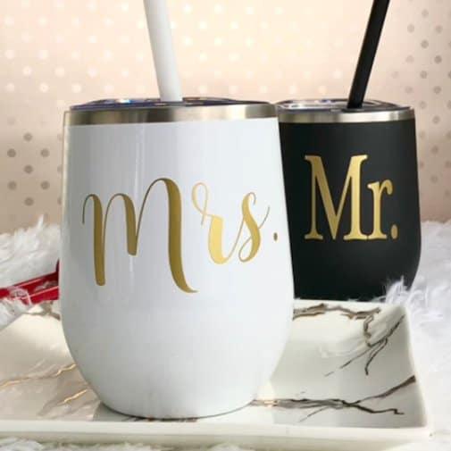 Mr and Mrs Wine Tumblers