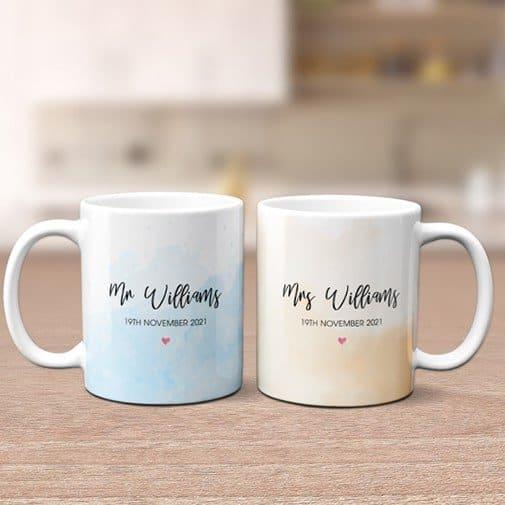 Mr. and Mrs. Wedding Custom Mug
