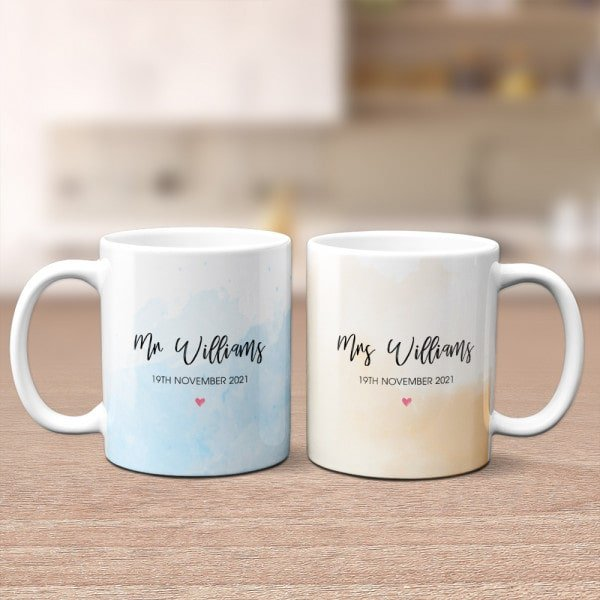 Mr. and Mrs. Wedding Anniversary Custom Mug