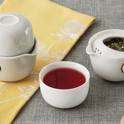 porcelain gifts for 18th wedding anniversary: Personal Teapot & Cup Set