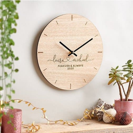 Personalized Couples Clock