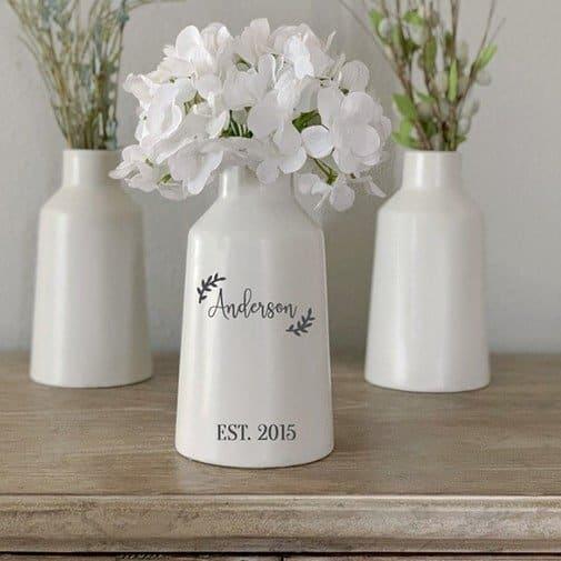 Personalized Porcelain Vase
