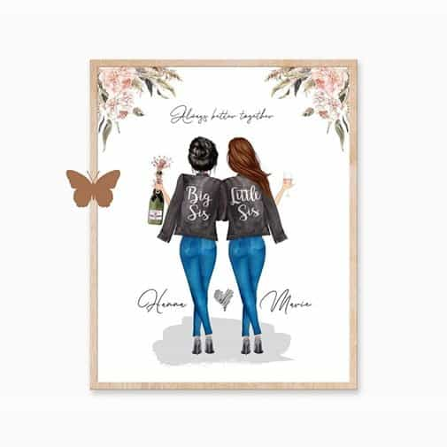what is the best gift to give your sister in law: Sister In Law Gift Custom Print