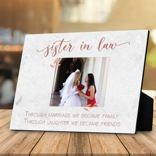 aw Through Marriage Desktop Photo Plaque