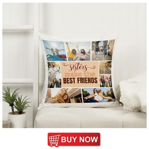wedding gift for sister and brother in law: Photo Collage Throw Pillow