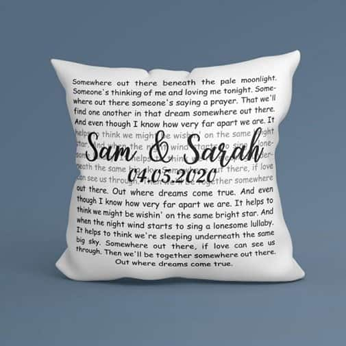 gift ideas for sister in law: Song Lyrics Pillow