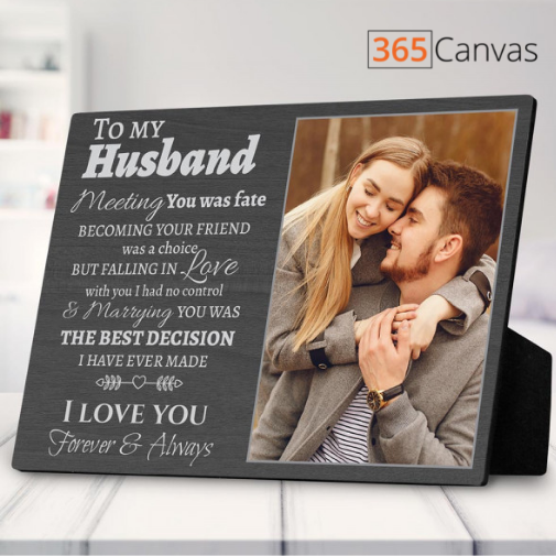 To My Husband Gift for Husband Custom Photo Plaque