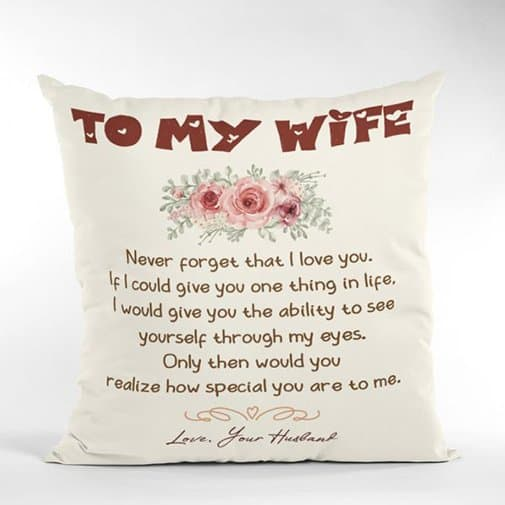 18th wedding anniversary: To My Wife Suede Pillow