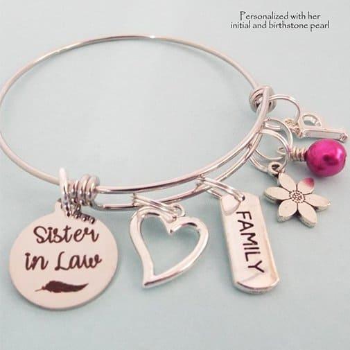 gift for sister in law: Bracelet for Sister