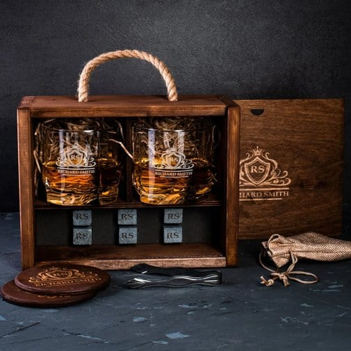 Whiskey Decanter Set With Box